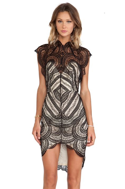 lover venus fitted dress in black revolve