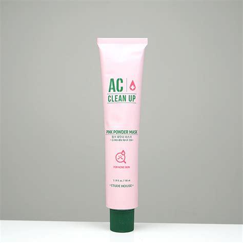 Ac Clean Up Pink Powder Mask 100ml etude house ac clean up pink powder mask 草本祛痘面膜 100ml