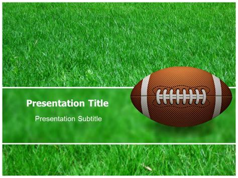 free football powerpoint template best photos of football themed templates free printable