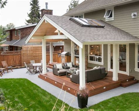 ideas for covered back porch on single story ranch trending covered decks steve hidder real estate