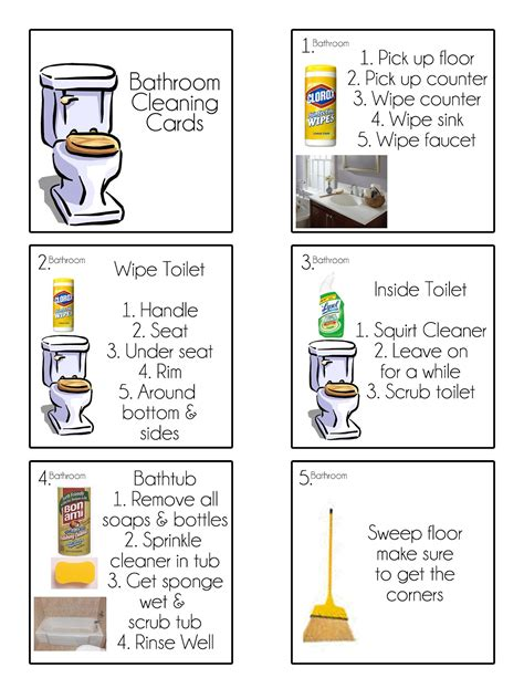 picture chore card template chore cards chore flip charts tips from a typical