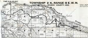 oregon township and range map 041 mosier to chenoweth recreating the historic columbia
