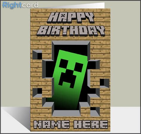 printable minecraft greeting cards minecraft birthday quotes quotesgram