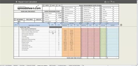 real estate rental investment spreadsheet buff
