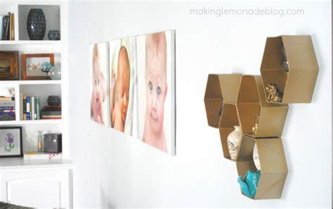 Diy Living Room Decor by Diy Hexagon Wall Shelves The Easy Way Lemonade