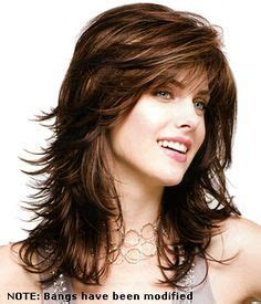 medium length hair syles feathered back on top with thin bangs pinterest the world s catalog of ideas
