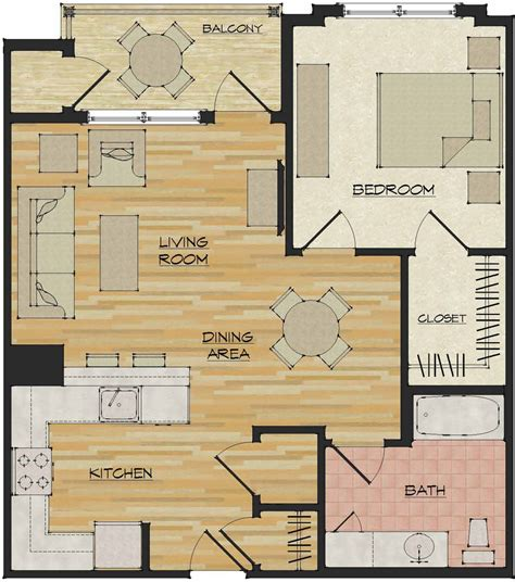 apartment floorplans 1 bedroom apartments flats 520 north haven ct