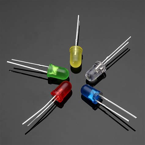 diode led buy 300pcs 20ma f5 5mm 5colors ultra bright led diode green blue white yellow