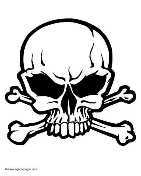 coloring pages of skull and crossbones skull coloring pages getcoloringpages com