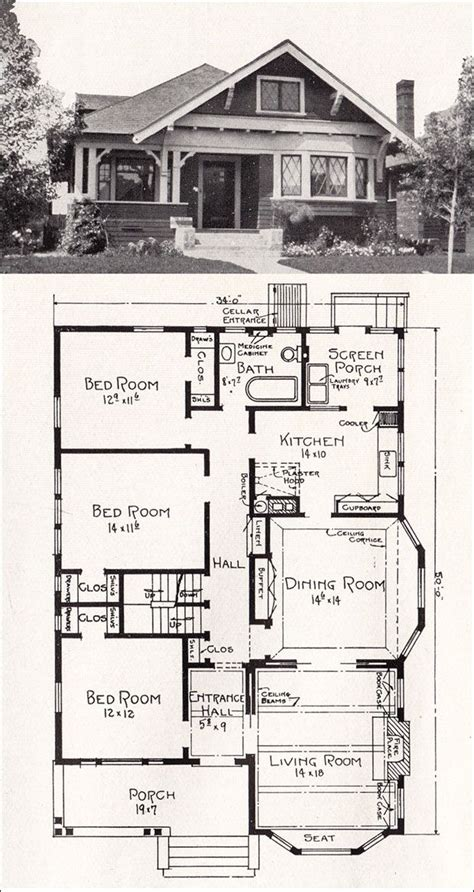 floor plans for cottages and bungalows craftsman the modern and window on pinterest