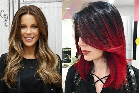 two color hairstyles hair trends 2017 two color hair