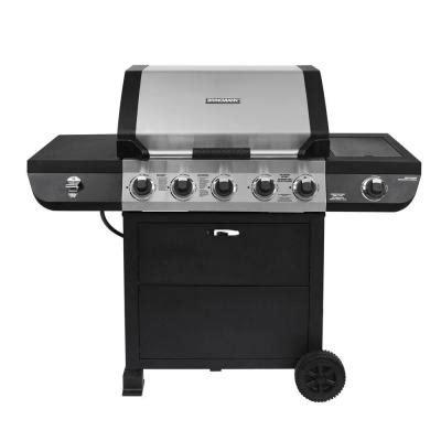 brickmann grill brinkmann 5 burner propane gas grill with side burner 810