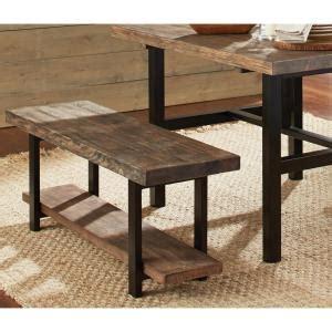 alaterre furniture pomona rustic bench amba0320