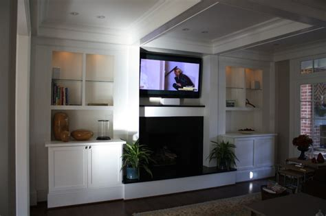custom built ins for living room eclectic living room