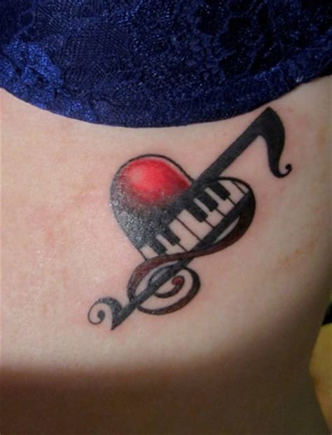 tattooed heart piano cover 56 best music tattoo images on pinterest tattoo ideas