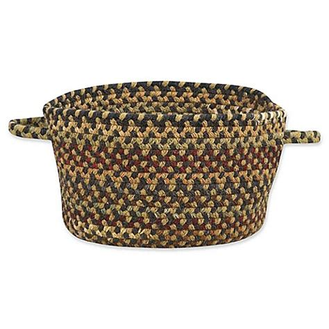 bed bath and beyond bangor buy capel rugs bangor medium braided basket in charcoal from bed bath beyond