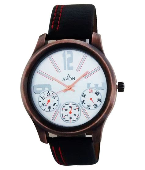 avon black leather wrist  price  india buy