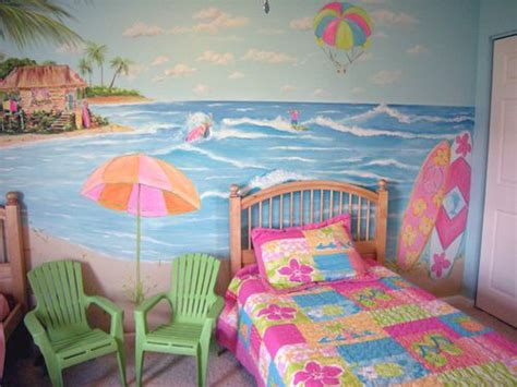 beach themed bedrooms for kids 5 water theme ideas for girls bedroom home decor report