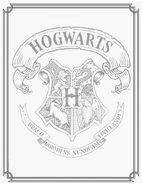 hogwarts symbol coloring pages
