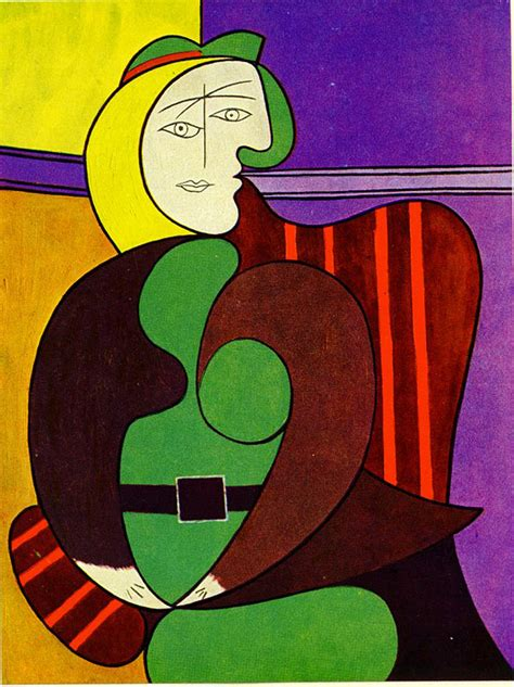 the red armchair woman seated in a red armchair picasso 1930s art