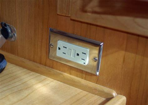 boat electrical outlet installation boats