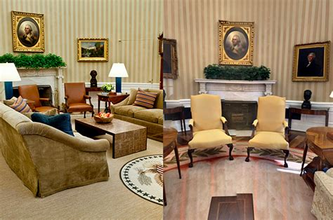 yellow oval office see the changes donald trump made to the oval office aol