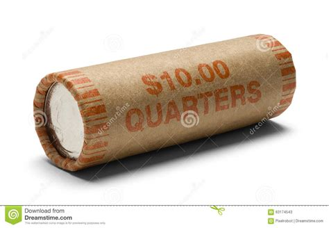 roll of quarters stock photo image 63174543