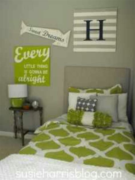 Green Grey Bedroom Boy Room Ideas Pinterest
