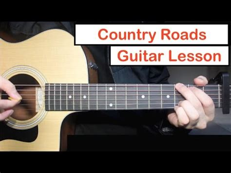 guitar tutorial john denver john denver take me home country roads guitar lesson