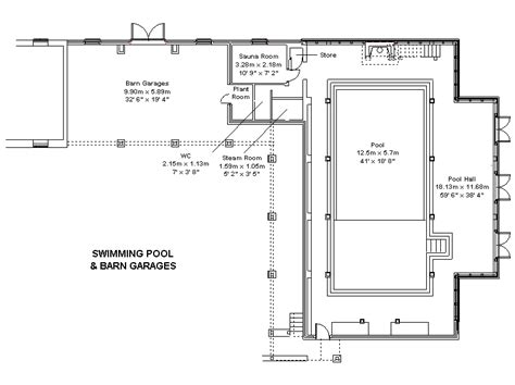 swimming pool floor plan garden sheds access american barn plans uk
