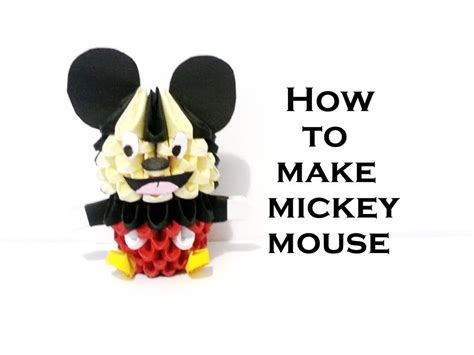 Mickey Mouse Origami - 3d origami mickey mouse tutorial hd