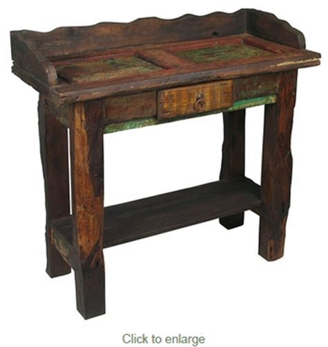 Rustic Vanity Table door rustic wood vanity table