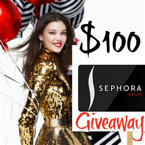 Sephora Sweepstakes Winners - 100 sephora gift card winner