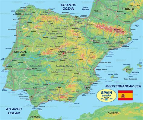 map spain view map of spain