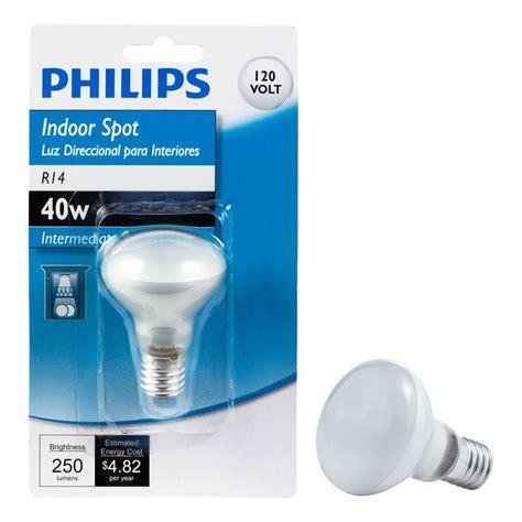 Lu Philips 40 Watt philips 40 watt incandescent r14 intermediate base light