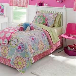 girls green bedding d7ghfdd pink blue amp green pastel flowers girls full