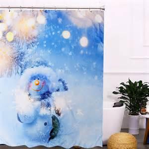 snowman bathroom decor 150x180cm snowman waterproof shower curtain