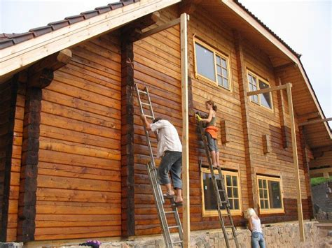 guide to paint log cabin exterior selection preparation application garden