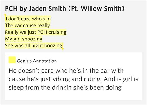 Pch Lyrics - i don t care who s in the car cause really really we pch