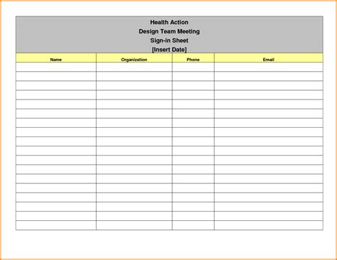 event sign in sheet template authorization letter pdf