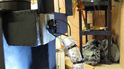 wood stove waste oil stove blower thermostat install by