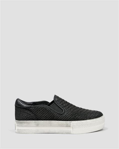 platform black sneakers lyst ash slip on platform sneakers jungle in black