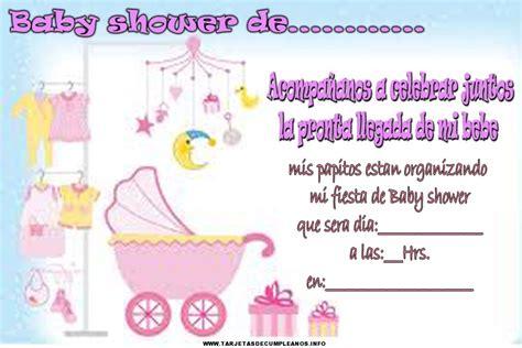 tarjetas de invitacion para imprimir baby shower gratis tarjetas de cumplea 241 os para baby shower tarjetas de