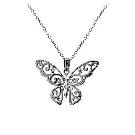diamonds levanter butterfly pendant necklace dp317