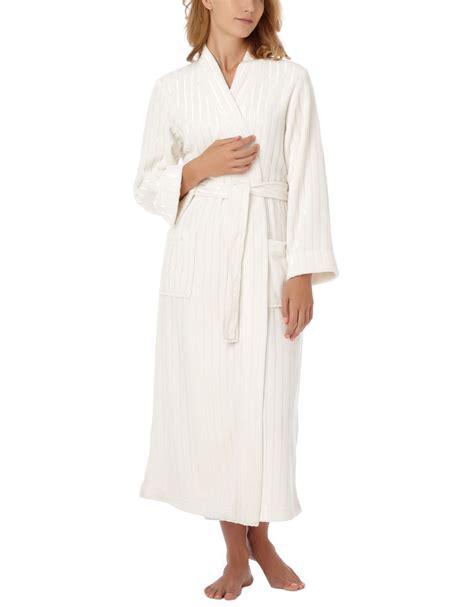 oscar de la renta robe oscar de la renta textured plush robe in white oystr lyst