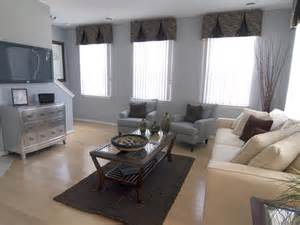 Grey And Beige Living Room Contemporary Living Space Photos Hgtv