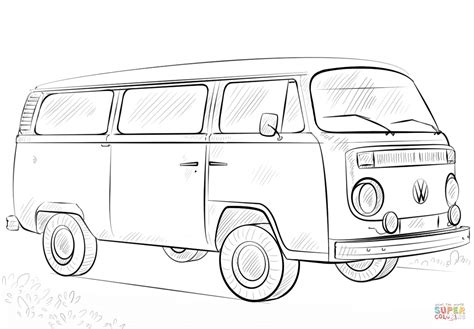 printable coloring pages vw bug vw bus coloring page free printable coloring pages
