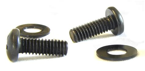 12 24 Rack Screws by 12 24 Rack Screws W Washers Black 100 Pack Cables