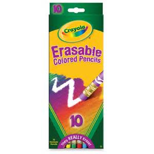colored pencils crayola cyo684410 crayola erasable colored pencils office
