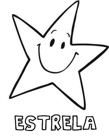 Desenho de estrela sorridente para pintar - Desenhos do